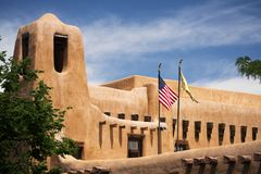 Gebäude in Santa Fe, New Mexiko stockbild