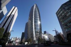 Gebäude in Shinjuku, Tokyo, morgens Lizenzfreies Stockbild