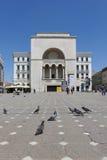 Gebäude Timisoara, Rumänien-Theaters und der Oper Stockbild