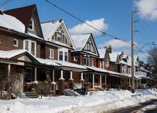 Gebäude in Toronto und im Schnee Stockbilder