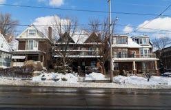 Gebäude in Toronto und im Schnee Lizenzfreies Stockbild
