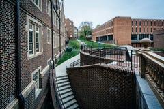 Gebäude an Towson-Universität, in Towson, Maryland Lizenzfreie Stockfotografie