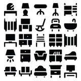 Gebäude-u. Möbel-Vektor-Ikonen 8 stock abbildung