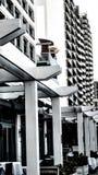 Gebäude und Balkone stockfoto