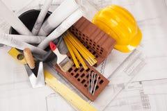 Gebäude und Baugeräte lizenzfreies stockfoto