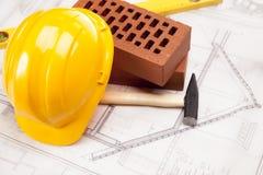Gebäude- und Bauhilfsmittel stockbild