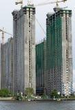 Gebäude und Baustelle Stockbild