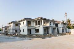 Gebäude- und Baustelle des neuen Hauses Stockfoto