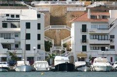Gebäude und Boote Stockbild
