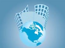Gebäude und die Erde lizenzfreie abbildung