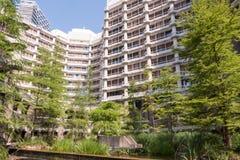 Gebäude und Garten des Außenministeriums Stockbild