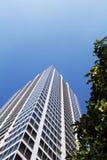 Gebäude und grüne Bäume in Akihabara Stockbild