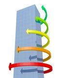 Gebäude- und Grafikpfeile Stockfotografie