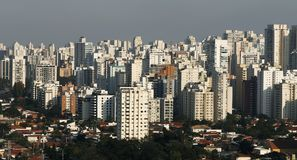 Gebäude und Häuser, Sao Paulo Lizenzfreies Stockbild