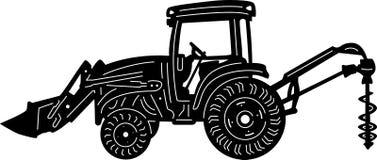 Gebäude und landwirtschaftliche Maschinen einzeln aufgeführt Lizenzfreies Stockbild