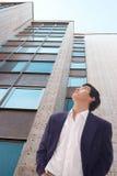Gebäude und Mann Lizenzfreies Stockfoto