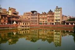 Gebäude und Stadt in Patan-Stadt bei Nepal Lizenzfreie Stockfotografie