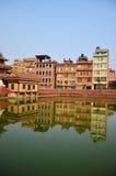 Gebäude und Stadt in Patan-Stadt bei Nepal Stockfotos