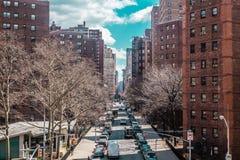 Gebäude und Straßen nahe Midtown Manhattan, New York City Lizenzfreies Stockfoto