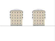 Gebäude und Strukturen vom frühen und von der Mitte des 20. Jahrhunderts Lizenzfreies Stockbild