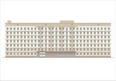 Gebäude und Strukturen vom frühen und von der Mitte des 20. Jahrhunderts Zeichnungen von Häusern der klassischen Architektur des  Lizenzfreies Stockbild
