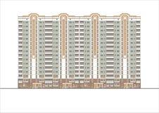 Gebäude und Strukturen vom frühen und von der Mitte des 20. Jahrhunderts Zeichnungen von Häusern der klassischen Architektur des  Lizenzfreie Stockbilder