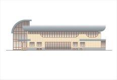Gebäude und Strukturen vom frühen und von der Mitte des 20. Jahrhunderts Zeichnungen von Häusern der klassischen Architektur des  Stockbilder