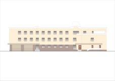 Gebäude und Strukturen vom frühen und von der Mitte des 20. Jahrhunderts Zeichnungen von Häusern der klassischen Architektur des  Stockfotografie