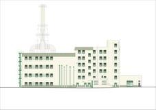 Gebäude und Strukturen vom frühen und von der Mitte des 20. Jahrhunderts Zeichnungen von Häusern der klassischen Architektur des  Lizenzfreies Stockfoto