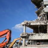 Gebäude unter Demolierung lizenzfreies stockbild