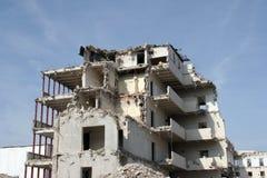 Gebäude unter Demolierung Stockfoto