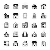 Gebäude-Vektor-Ikonen 3 Stockbild