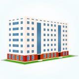 Gebäude, Vektorillustration Lizenzfreies Stockfoto
