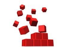 Gebäude von den roten Würfeln Lizenzfreie Stockfotografie