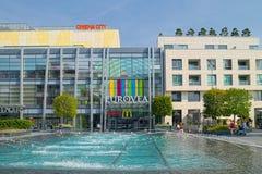 Gebäude von Eurovea-Mall in Bratislava Lizenzfreies Stockfoto