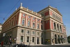 Gebäude von Gesellschaft der Musikfreunde in Wien, Österreich Stockbilder