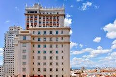 Gebäude von im Stadtzentrum gelegenem Madrid, Spanien lizenzfreies stockbild