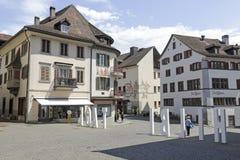 Gebäude von Rapperswil in der alten Stadt Lizenzfreies Stockfoto