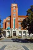 Gebäude von Rathaus in der Mitte der Stadt von Pleven Stockfotografie