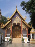 Gebäude in Wat Phrathat, Doi Suthep Lizenzfreies Stockfoto