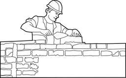 Gebäude worker2 Stockfotos