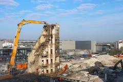 Gebäudeabbruch stockfoto