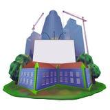 Gebäudeanschlagtafel Lizenzfreie Stockbilder