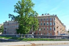 Gebäudeansicht, in der der Dichter Alexander Blok lebte und gestorben ist St Petersburg lizenzfreie stockfotografie
