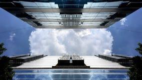 Gebäudeansicht oben schauen Lizenzfreies Stockfoto