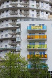 Gebäudebalkone Lizenzfreie Stockbilder