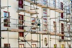 Gebäudebaugerüst stockfoto