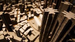 Gebäudebaumuster Stockbild