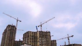 Gebäudebauprozess stock footage