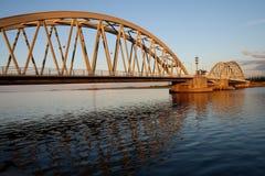 Gebäudebrücke Stockfotografie